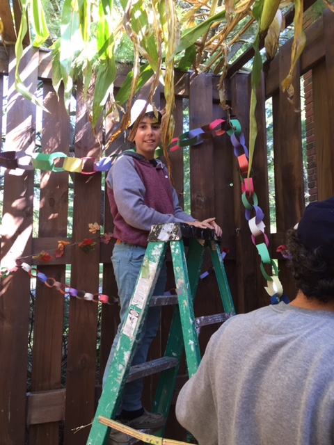 Decorating the Sukkah 2014 picture 1