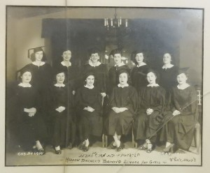 Graduation, Beit Midrash L'Morot. Gladys Kerstein in back row, third from right.