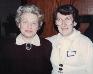 Directors of AKSE Talmud Torah: Gladys Gewirtz (curriculum) and Helen Gordon (administration), 1972-1993